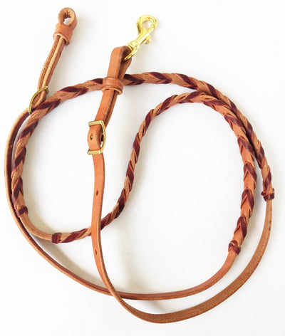 Laced Leather Barrel Reins