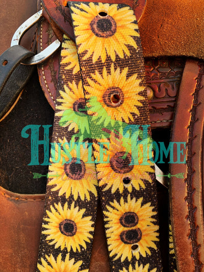 Sunflowers on Glitter Cinch Strap Set