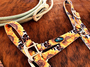Sunflower on Leopard Nylon Halter