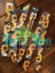 Sunflower on Leopard Cinch Strap Set