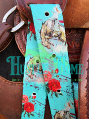 Desert Rose Equine Ride Em Rosie Cinch Strap Set