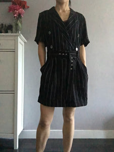 Simple Elegancy Short Jumpsuits - Black