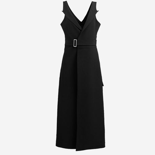 Trench Style Black Dress