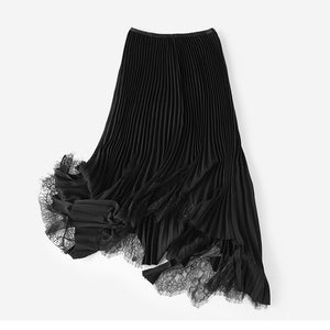 Glamorous Black Pleated Skirt Dress