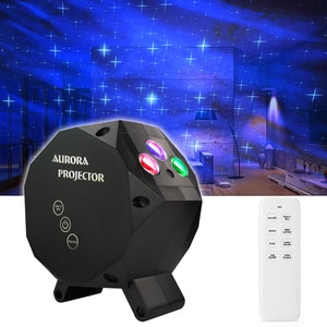 Star Aurora™ Laser Green and RGB LED Night Lights Decorative Projector with Bluetooth Speaker and Remote Control -Dark Gray