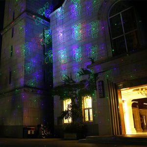 Classic: Motion Pattern 3 models in 1 Continuous 18 Patterns RGB Outdoor Laser Garden and Christmas Lights