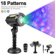 Load image into Gallery viewer, Classic: Motion Pattern 3 models in 1 Continuous 18 Patterns RGB Outdoor Laser Garden and Christmas Lights