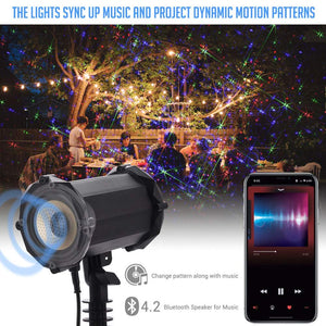 Moving 3D RGB™ - 48 Pattern Projector - Bluetooth Edition