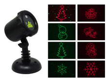 Load image into Gallery viewer, Red & Green Christmas Collage™ Laser Projector