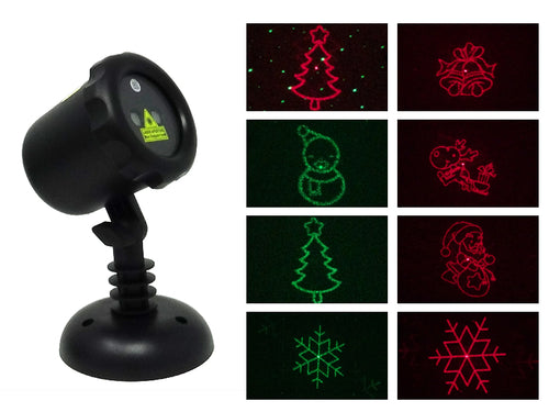 Red & Green Christmas Collage™ Laser Projector