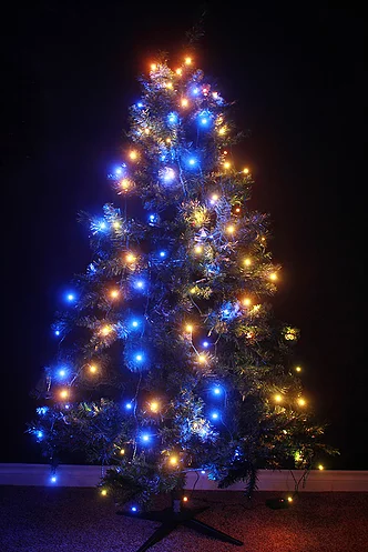 Purple Christmas Tree.Treehue Smart Christmas Lights App Controlled 150 Effects