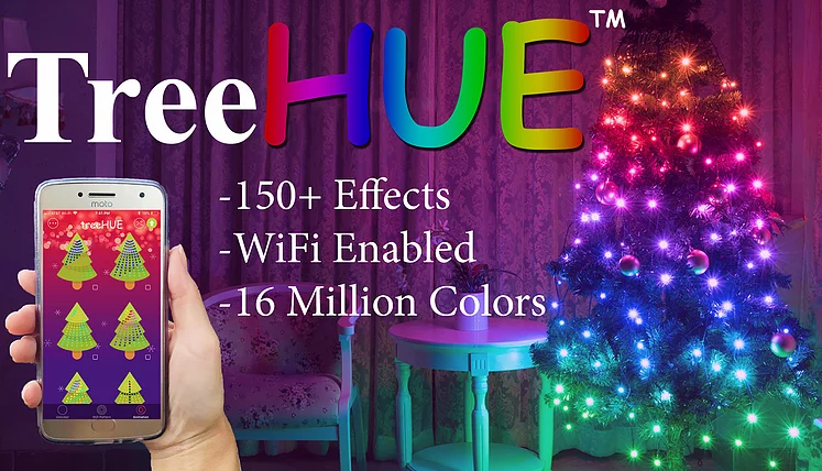 Purple Christmas.Treehue Smart Christmas Lights App Controlled 150 Effects
