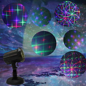 Classic: Motion 8 Patterns in 1 RGB Outdoor Garden Laser Christmas Lights