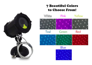 White +6 Colors: Dance Party Edition™ Bluetooth Laser Projector