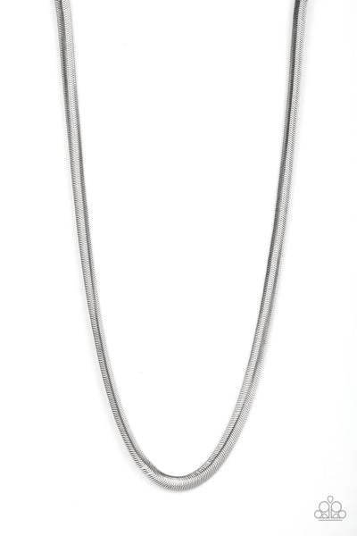 Paparazzi Kingpin - Silver Men's Chain - Princess Glam Shop