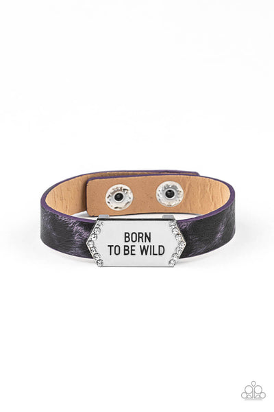 Paparazzi Born To Be Wild - Purple Urban Bracelet - Princess Glam Shop