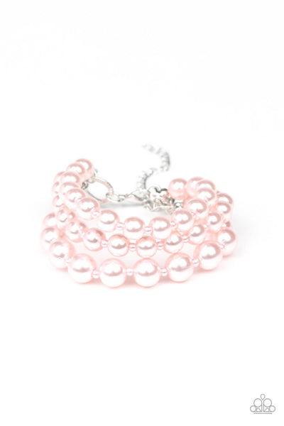Paparazzi Total PEARL-fection - Pink Pearls Adjustable Bracelet - Princess Glam Shop