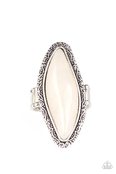 Paparazzi Mineral Mine - White Ring - Princess Glam Shop