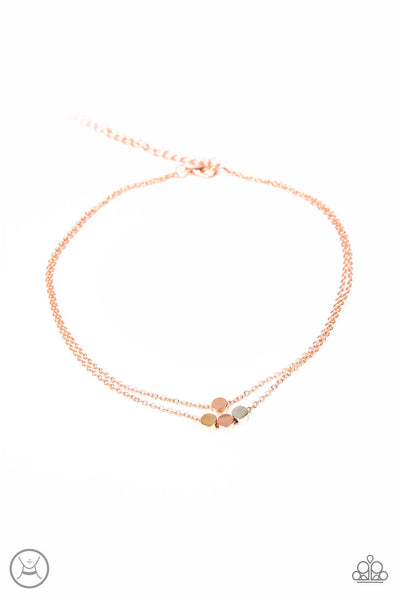 Paparazzi Mini Minimalist - Dainty Copper Choker Necklace Set - Princess Glam Shop