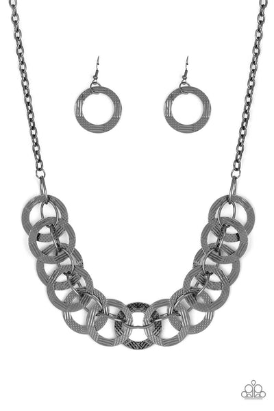 Paparazzi The Main Contender Necklace Set - Black - Princess Glam Shop