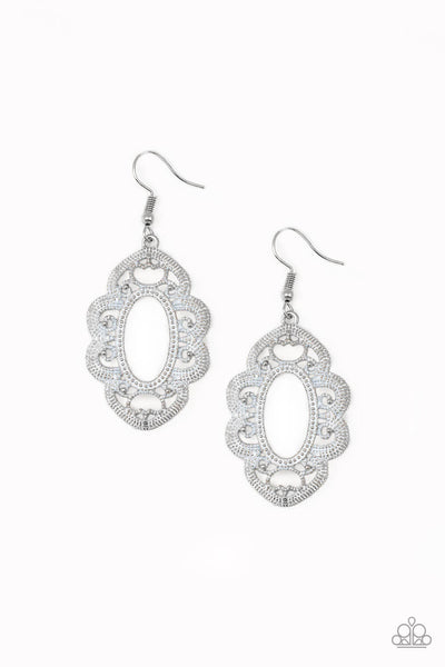 Paparazzi Mantras and Mandalas - White Earrings - Princess Glam Shop