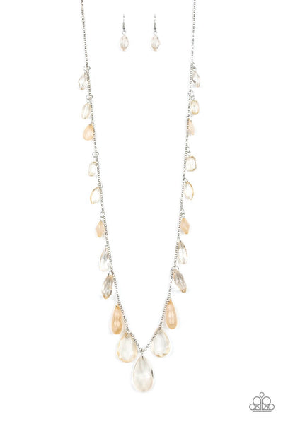 Paparazzi GLOW and Steady Wins the Race - Brown Necklace - Princess Glam Shop