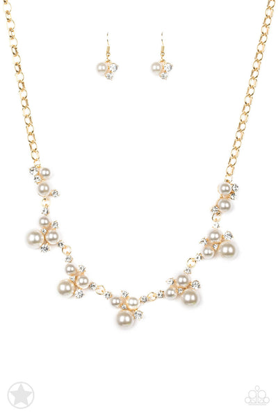 Paparazzi Toast To Perfection Gold Necklace Set - Princess Glam Shop