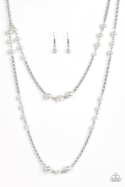 Paparazzi Pearl Promenade - White Necklace Set - Princess Glam Shop