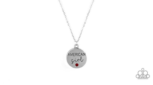Paparazzi American Girl - Red Rhinestone Necklace Set - Princess Glam Shop