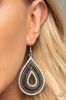 SOLD OUT Paparazzi 5th Avenue Attraction Black Earrings - Princess Glam Shop