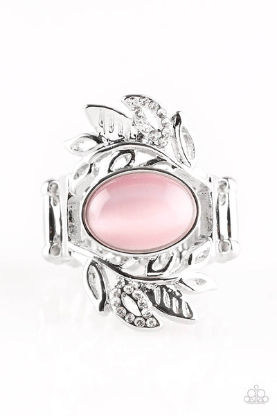 Paparazzi Garden Dew - Pink Moonstone Stretch Band Ring - Princess Glam Shop