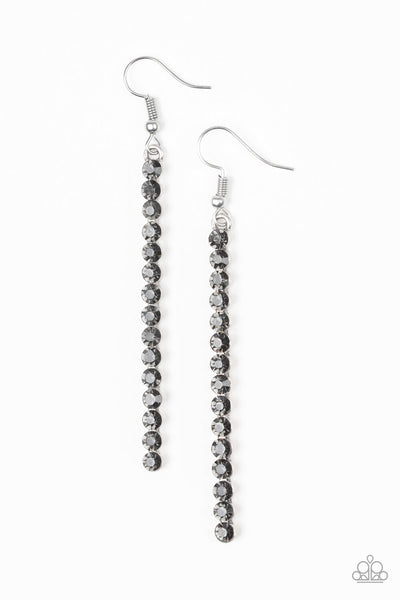 Paparazzi Grunge Meets Glamour - Black Hematite Pendulum Earrings - Princess Glam Shop