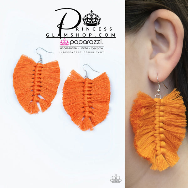 Paparazzi Knotted Native Orange Earring - Princess Glam Shop