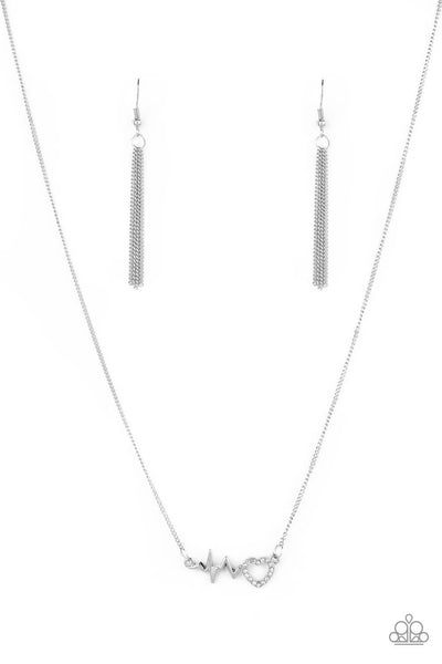 Paparazzi HEARTBEAT Street - White Necklace Set - Princess Glam Shop