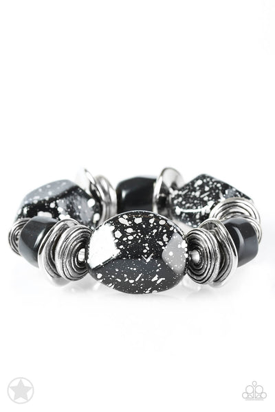 Paparazzi Glaze of Glory - Black Stretchy Bracelet - Princess Glam Shop