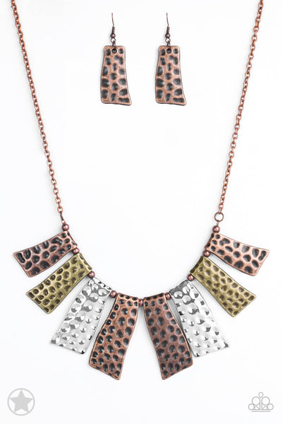 Paparazzi A Fan of the Tribe Necklace Set - Princess Glam Shop