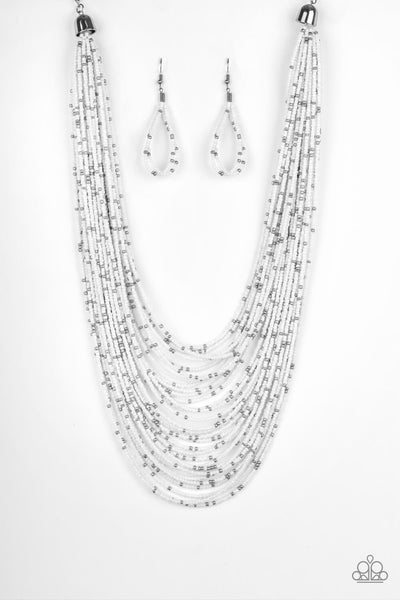 Paparazzi Rio Rainforest - White Seed Bead Necklace Set - Princess Glam Shop