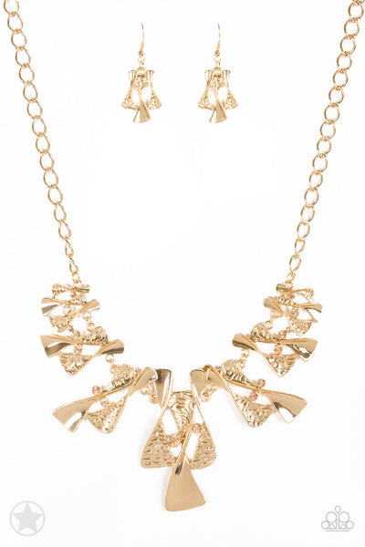 Paparazzi The Sands of Time Gold Necklace Set - Princess Glam Shop