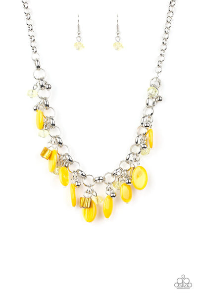Paparazzi I Want To Sea The World Yellow Necklace Set - Princess Glam Shop