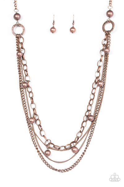 Paparazzi Love Is BLING Copper Necklace Set - Princess Glam Shop