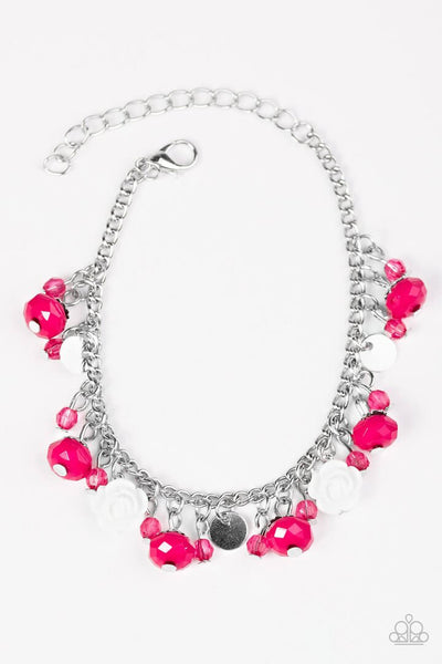 Paparazzi Spoken For - Pink - Silver Chain Bracelet - Princess Glam Shop