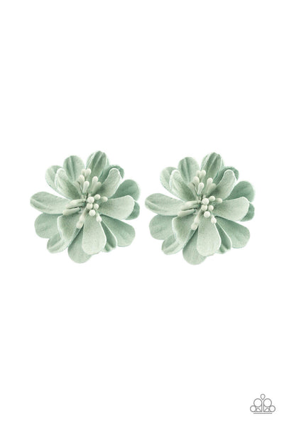 Paparazzi Awesome Apple Blossom - Green Flower Hair Clip Set - PrincessGlamShop