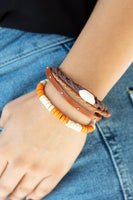 Paparazzi Beach Bounty - Orange Bracelet - Princess Glam Shop
