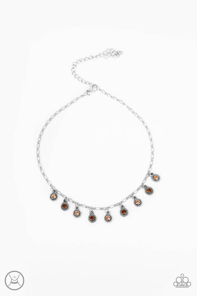 Paparazzi Popstar Party - Multi Colored Stone Choker Necklace Set - Princess Glam Shop