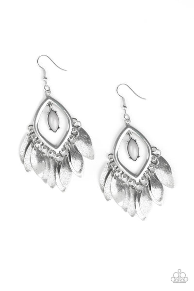 Paparazzi Sunset Soul - Silver Earrings - Princess Glam Shop