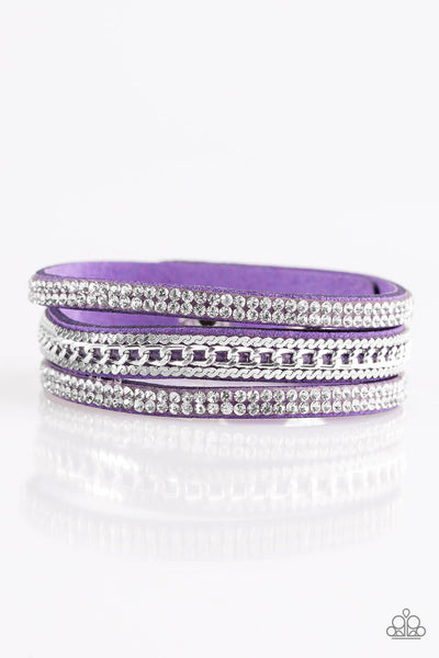 Paparazzi Unstoppable - Purple Snap Wrap Bracelet - Princess Glam Shop