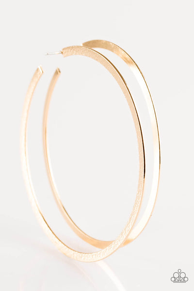 Paparazzi Size Them Up - Gold Hoop Earrings - Princess Glam Shop