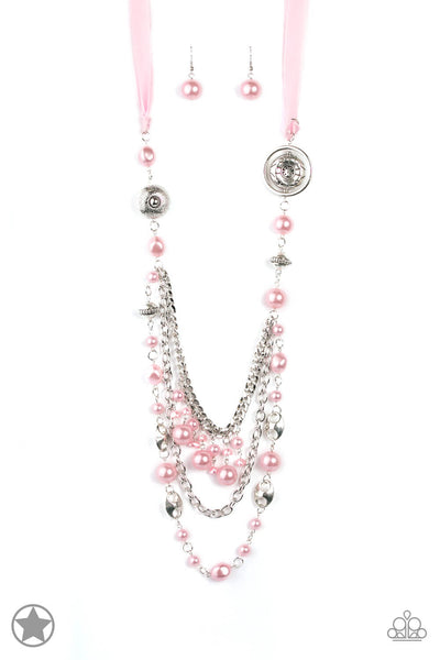 Paparazzi All The Trimmings Satin Ribbon - Pink Necklace Set - Princess Glam Shop