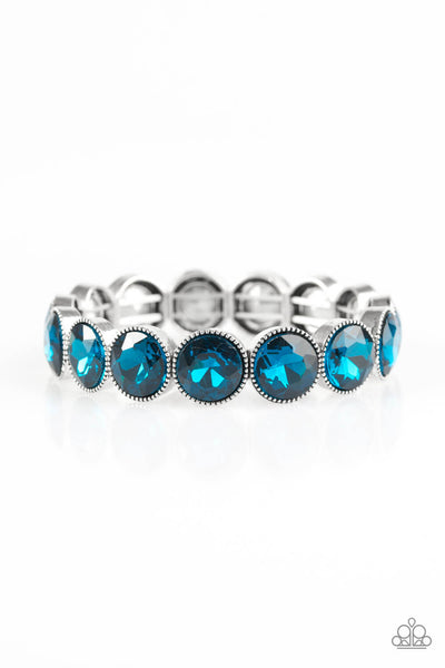 Paparazzi Number One Knockout - Blue Gem Bracelet - Princess Glam Shop