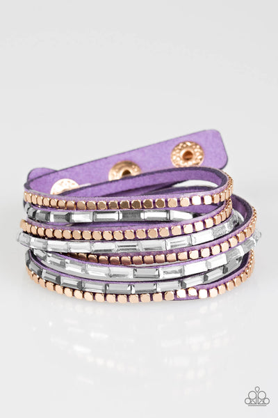 Paparazzi This Time With Attitude - Purple Double Wrap Bracelet - Princess Glam Shop